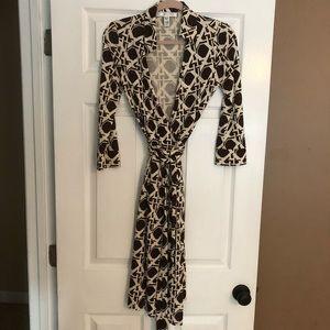 Classic vintage DVF wrap dress